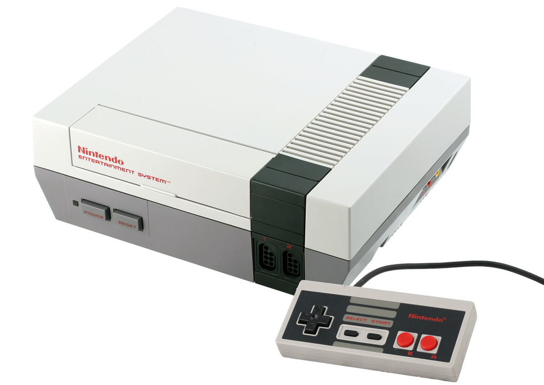 Nintendo Entertainment system console and controller