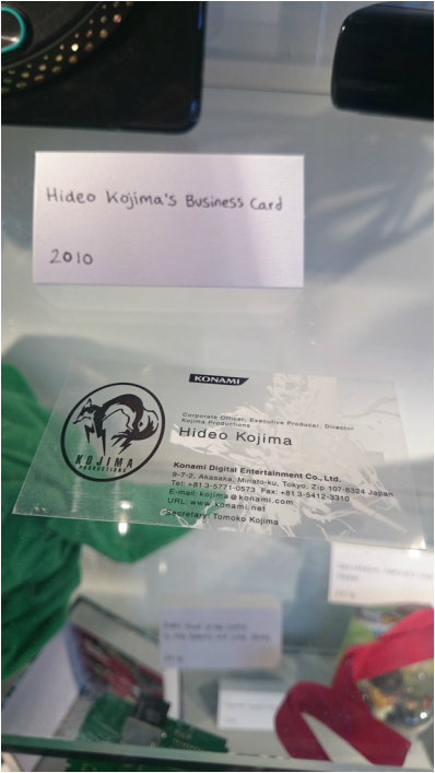 Hideo Kojima's business card
