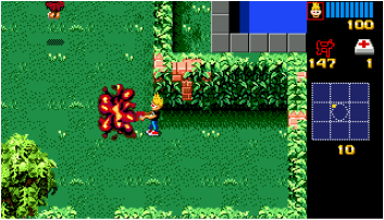 Zombies on the Sega Mega Drive Screenshot