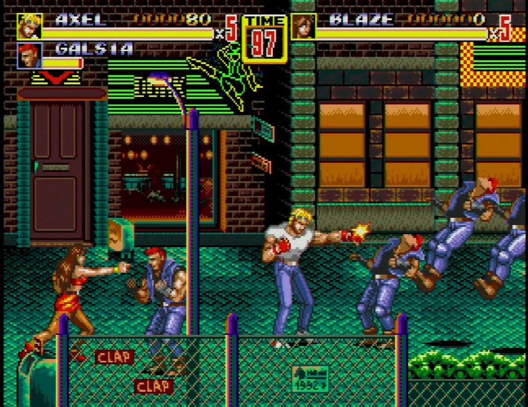 Axel and Blaze Streets of Rage 2
