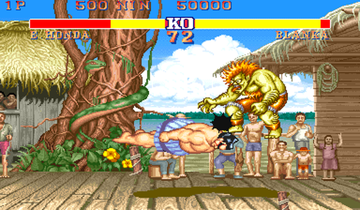 Street Fighter 2 Ehonda and Blanka