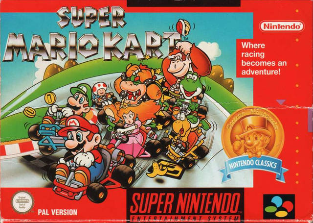 Super Mario Kart red PAL box