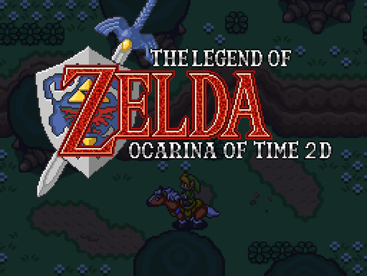 Ocarina of Time 2D title Screen