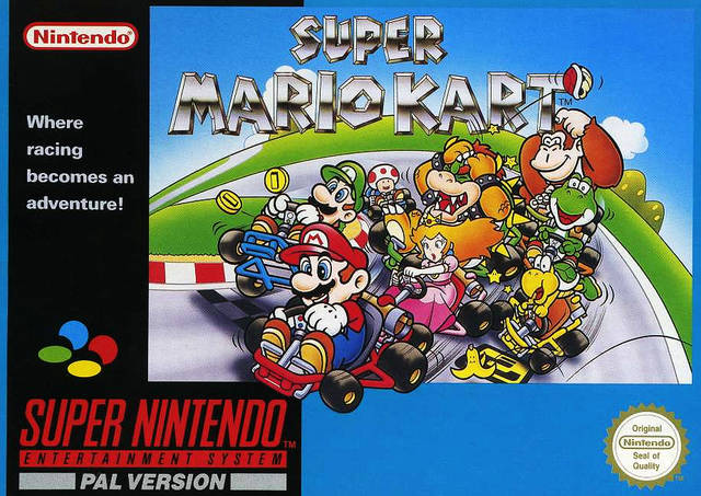 Super Mario Kart PAL box art