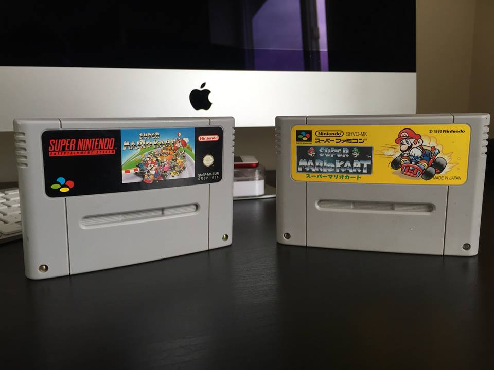 Super Mario Kart on the Snes and Super Famicom