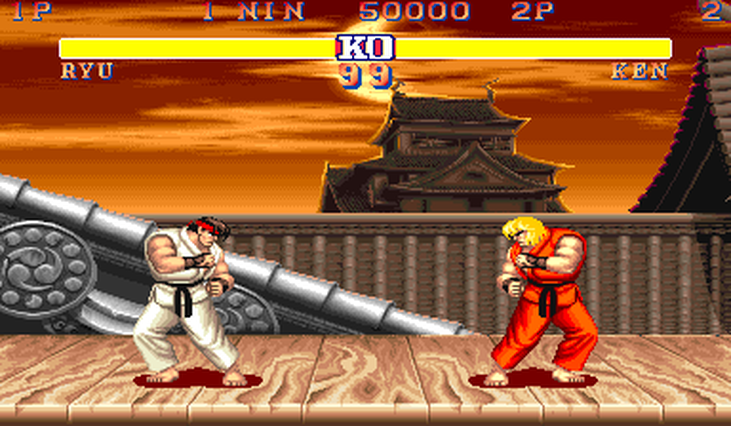 Ryu and Ken Street Fighter 2
