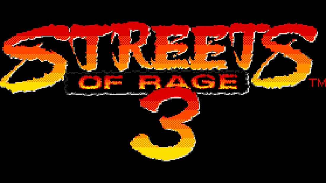 Streets of rage 3 startup screen