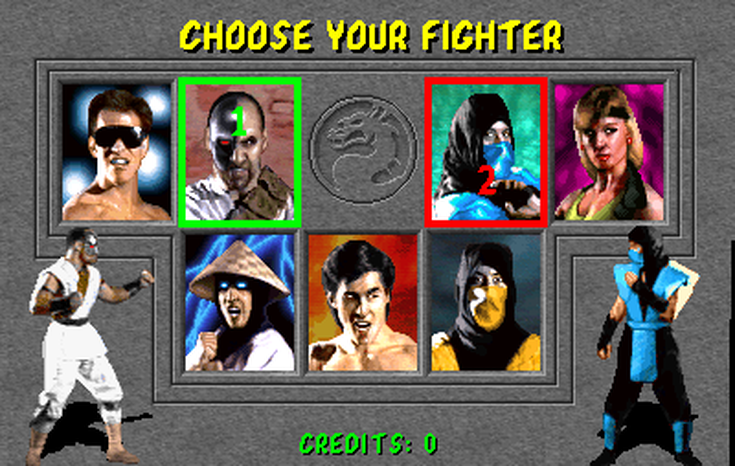 Mortal Kombat - Character select