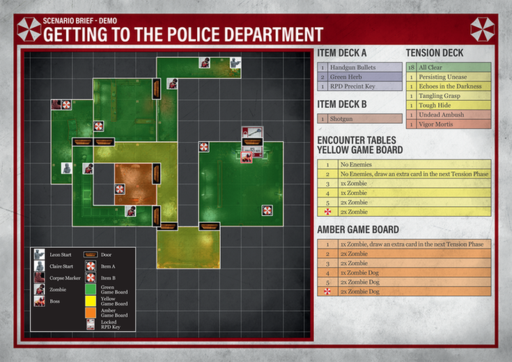 Resident Evil 2 Board Game - The Police Department