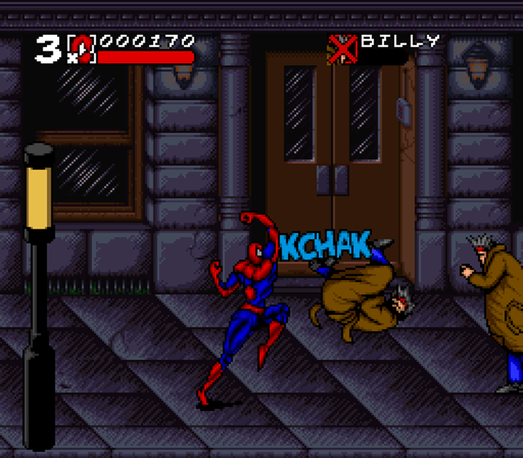 Spider-Man Maximum Carnage on the SNES