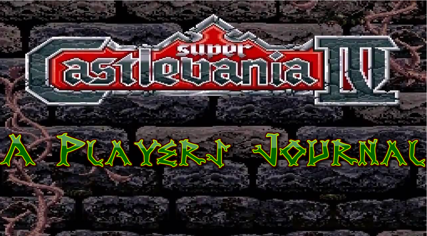 Super Castlevania IV A players journal